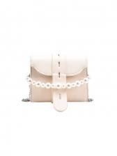 Versatile Mini Solid Faux-Pearl Belt Crossbody Bags