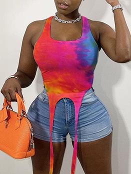 Sexy Tie Dye Tank Top Summer