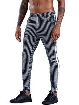 Fashion Striped Straight Mens Pants