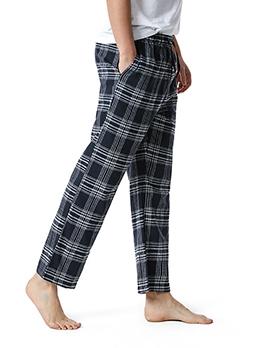Fashion Plaid Home Wear Mens Pants