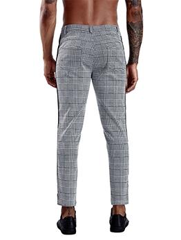 Stylish Plaid Mid-Waisted Mens Pants