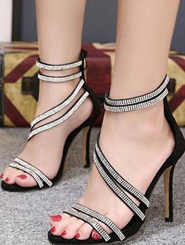 Fashion Rhinestone High Heel Shoes