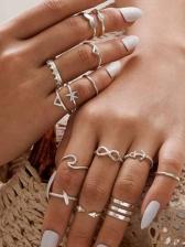 Fashion Antique Silver Vintage Ring Sets
