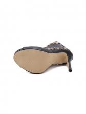 Sexy Peep Toe Rivet High Heels Sandals