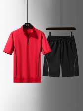Pure Color Zipper Up Plus Size Athletic Wear