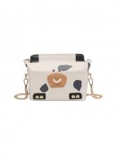 Cute Hasp Cow Shoulder Bags For Ladies