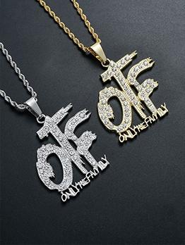 Latest Letter Hip Hop Pendant Necklace Fashion
