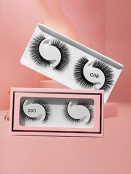 2 Pairs Pack Natural Dense False Eyelashes