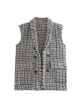 Fashion Geometric Printed Women Waistcoat