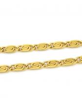 Men Hip Hop Pure Chain Simple Necklace Accessories