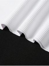 Stylish Casual Versatile White Print Cropped Tank