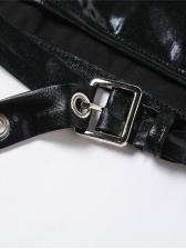 Fashion Latest Halter Black Backless Tank Top