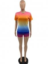 Casual Gradient Color Two Piece Sets Women