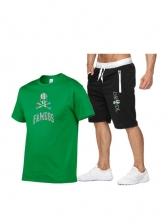 Summer Short Sleeve T Shirts With Shorts Printing