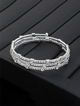 Rhinestone Faux-Pearl Design Women Bracelet