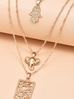 Fashion China Style Dragon Shape Pendant Necklace