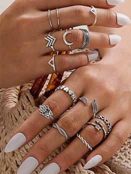 Bohemian Geometry Ring Sets For Women