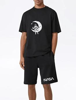Summer Pure Color Breathable Short Set Activewear