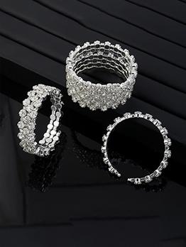 Latest Style Multi-Rows Rhinestone Bracelet