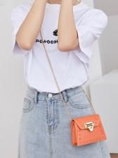 New Korea Twist Lock Crossbody Bags