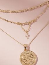 Stylish Cross Vintage Style Pendant Necklace