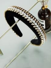 Retro Style Faux-Pearl Sponge Hair Hoop