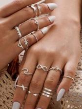 Simple Fashion Vintage Sliver Ring Sets