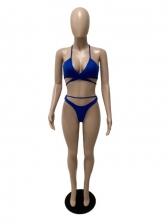 Popular Solid Sexy 2 Piece Bikini