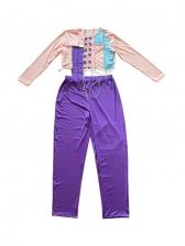 Contrast Color Patchwork Two Piece Pants Set