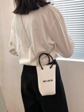 Fashion Letter Chain Shoulder Bags