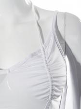 Sexy White Gauze Patch Tank Top