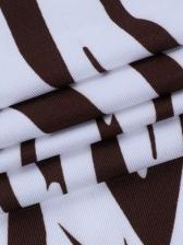 Fashion Zebra Pattern Cropped Tank Top