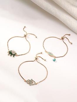 Fashion Simple Alloy Material Bracelet Women