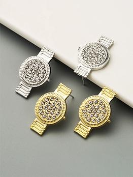 Rhinestone Watches Shape Design Create Earrings