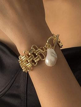 Punk Style Faux-Pearl Bracelet For Ladies