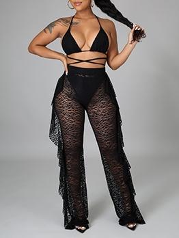 Sexy Black Bikini Three Piece Sets