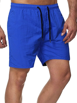 Summer Casual Solid Short Pants For Men
