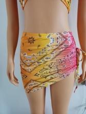 Sexy Halter Tie-Wrap Crop Top Skirt Set