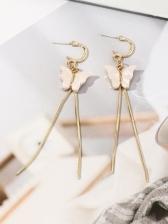 Sweet Butterfly Long Tassel Earrings For Women