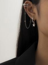 Street Snap Rhinestone Ear Bones Clip Earrings
