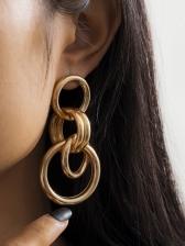 Multilayer Circle Around Geometric Women Earrings