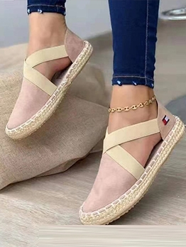Casual Round Toe Slip On Shoes