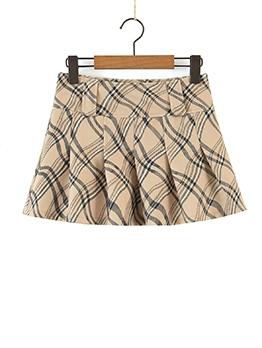 Summer Print Mini Skirt For Girls