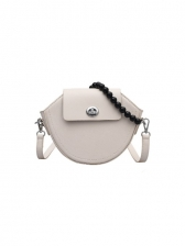 Trendy Pure Color Chic Women Shoulder Bag