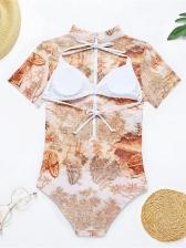 Swimming Gauze Three Pieces Bikini Sets Swimsuits