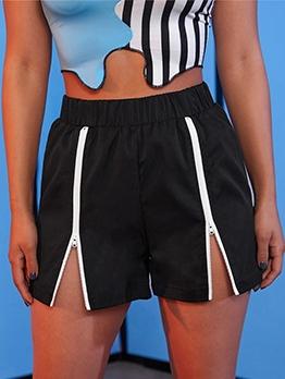 Casual Sport Mid Waist Short Pants Women
