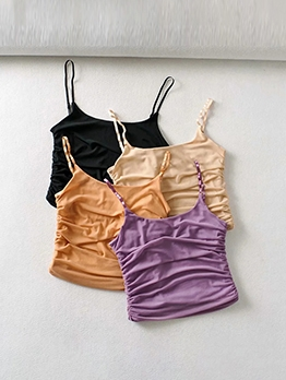 Sexy Ruched Camisoles For Women