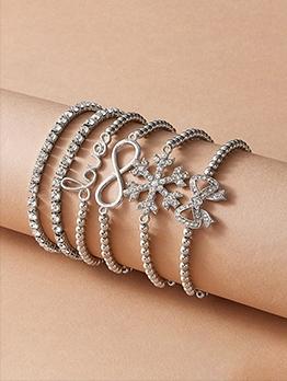 Trendy Fashion Rhinestone Bracelet Sets