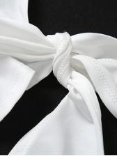 Vogue Sexy Halter Back Tie Wrap Solid Tank Top