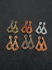 Alloy Material Fashion Rhinestone Long Earrings